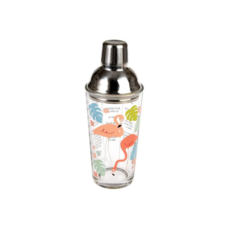 Flamingo cocktail shaker