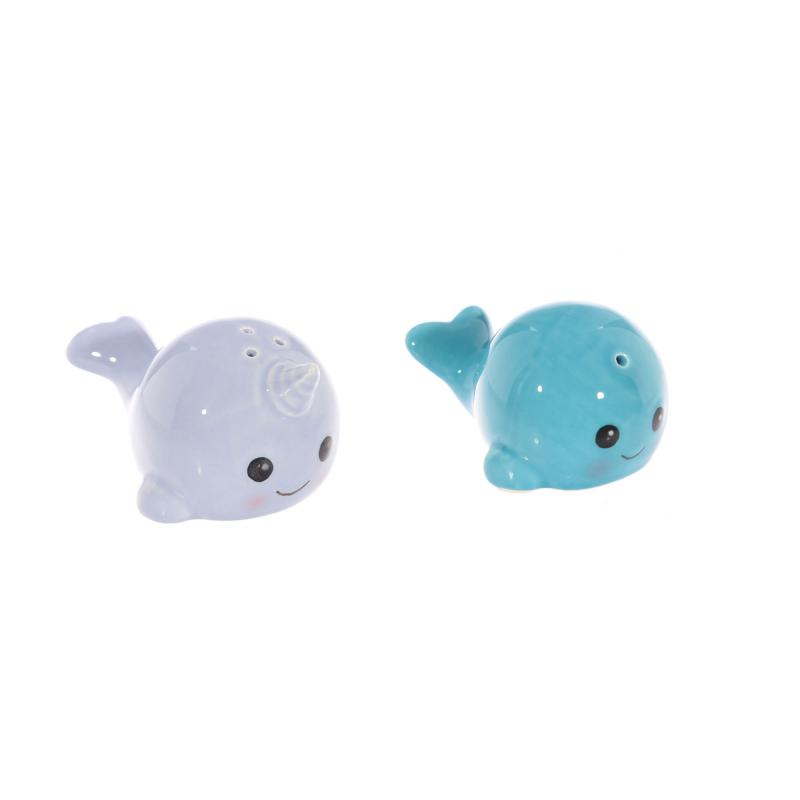 Narwhal salt and pepper shakers