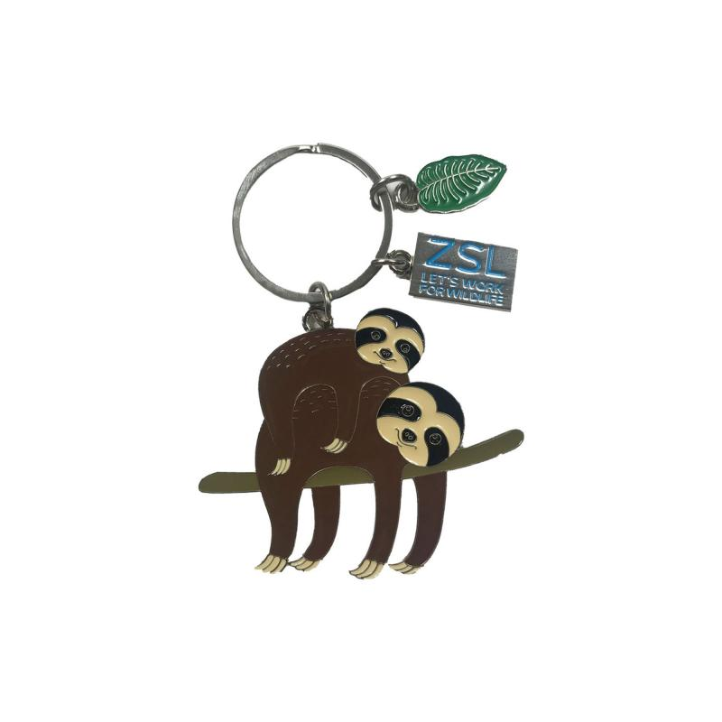 Sloth metal keyring