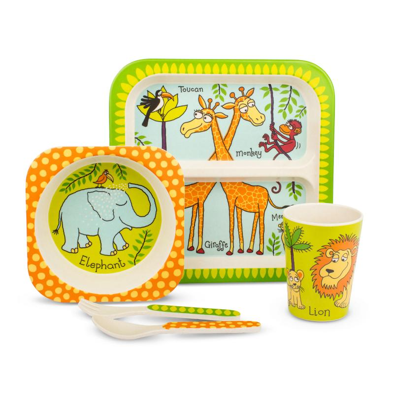 Jungle bamboo dinner set