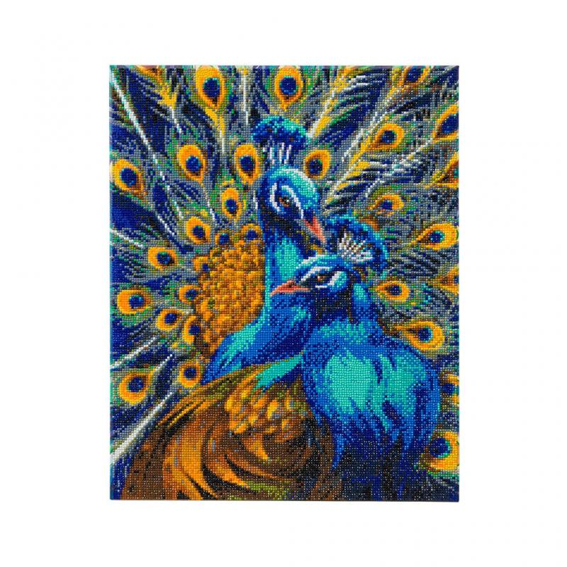 Peacock Crystal Art Canvas Kit, 40cm x 50cm