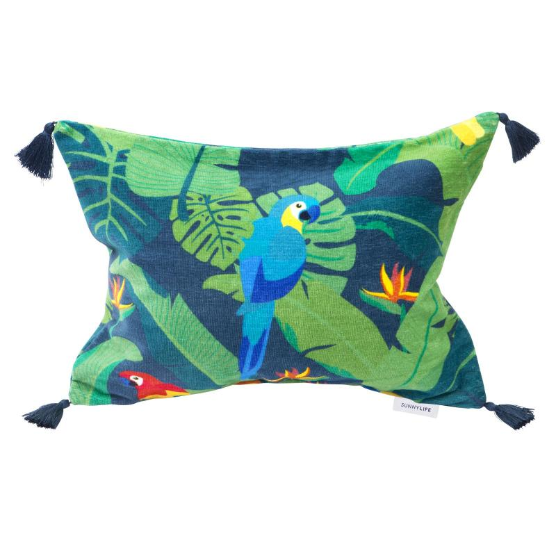 Tropical beach pillow