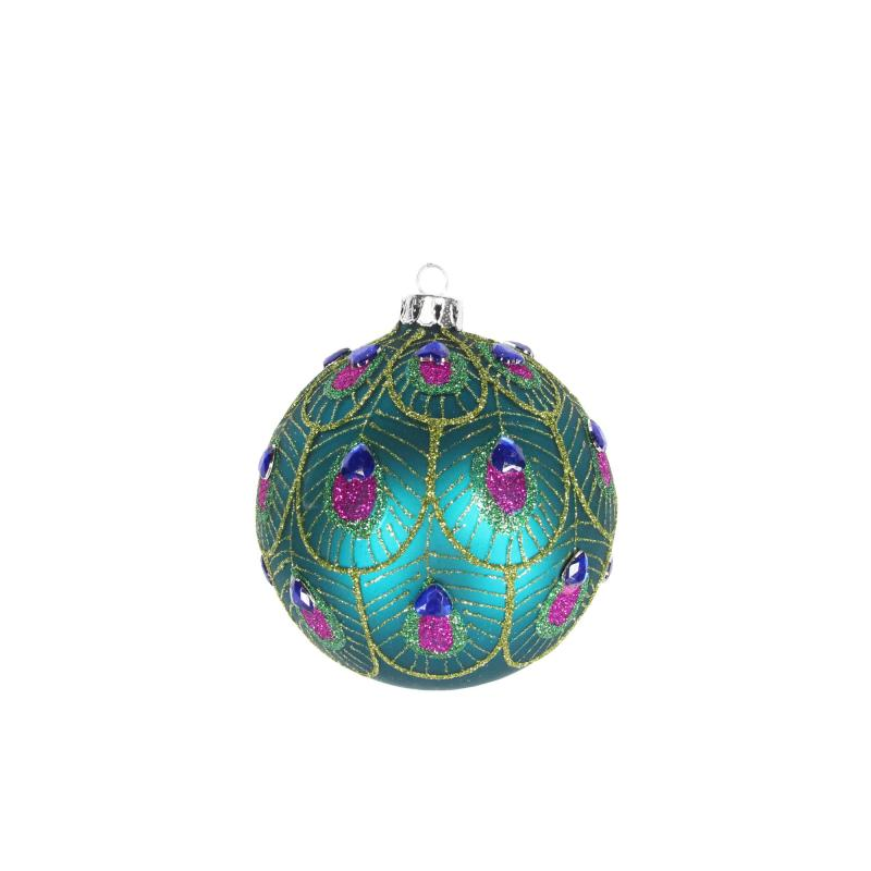 Gisela Graham peacock feather bauble