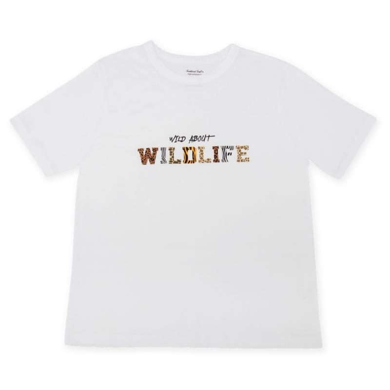 Wild about wildlife slogan t-shirt