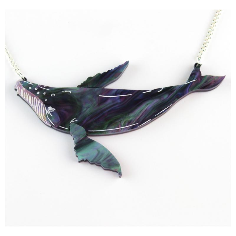 Kimchi & Coconut humpback whale necklace