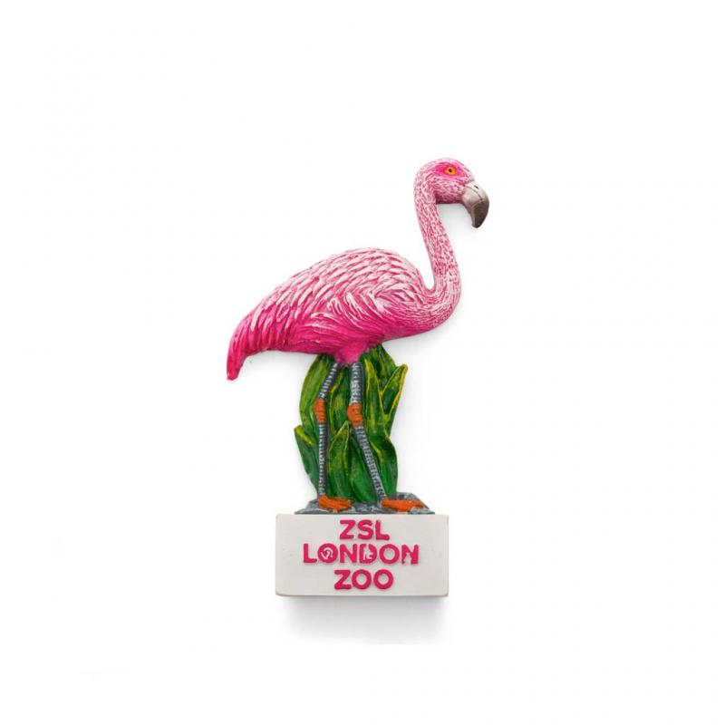 London Zoo Flamingo Magnet