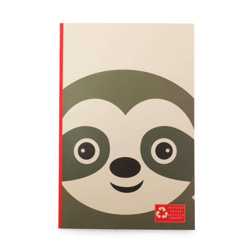 Sloth recycled notebook