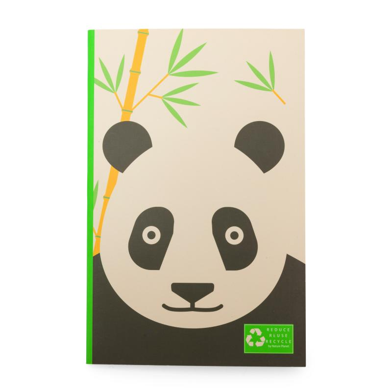 Panda recycled notebook