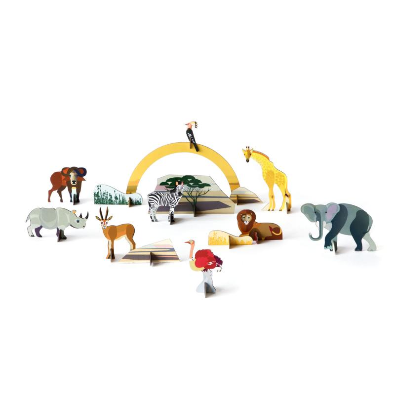 Savanna animals pop out and play