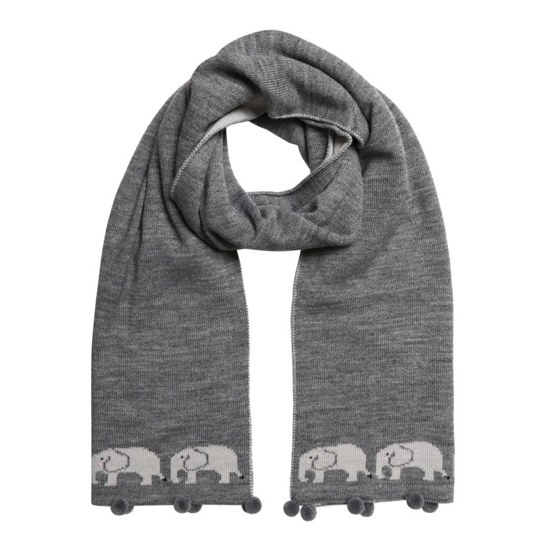 Grey elephant scarf