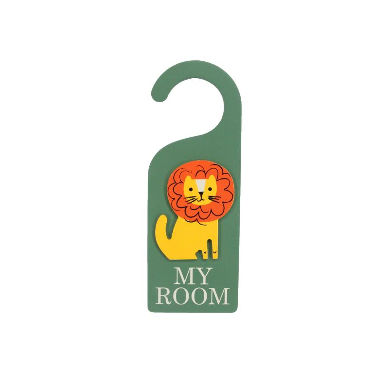 Lion door hanger, 'My Room'