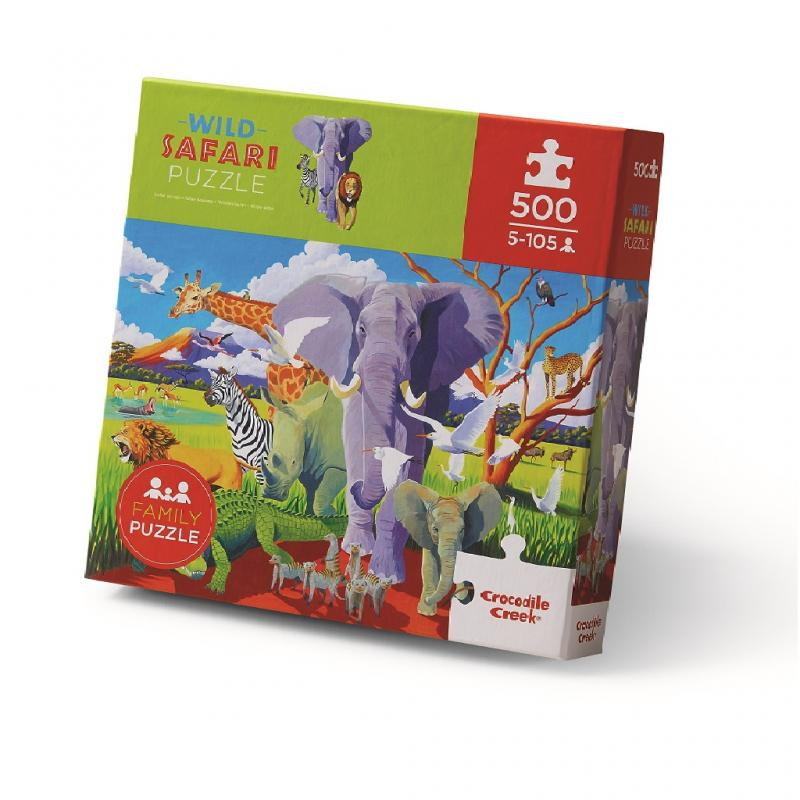 Wild Safari Animals Jigsaw Puzzle, 500 pieces