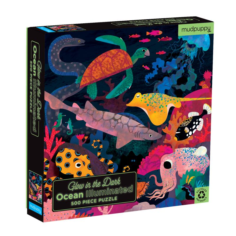 Glow in the Dark Ocean Jigsaw Puzzle, 500 pieces
