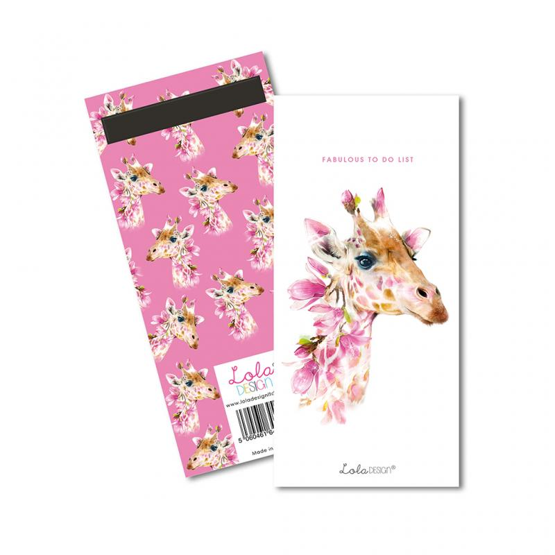 Giraffe to do list notepad