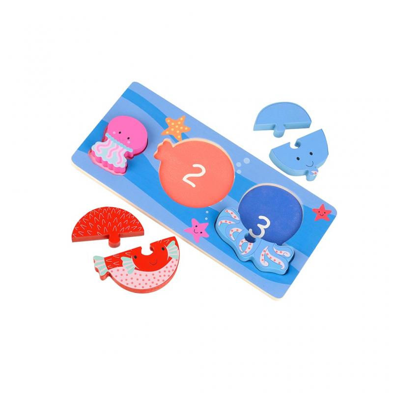 Sea life Mini Puzzle Tray pieces