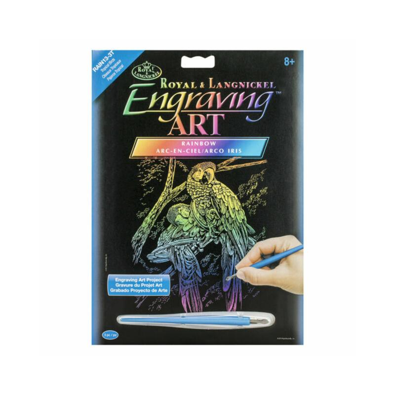 Tropical birds engraving kit