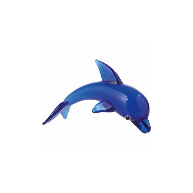 Dolphin glass ornament