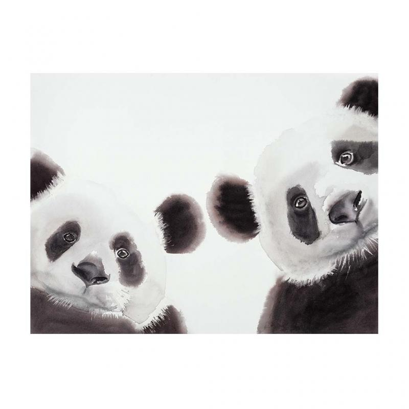 Panda Canvas Art Print, 40x30cm