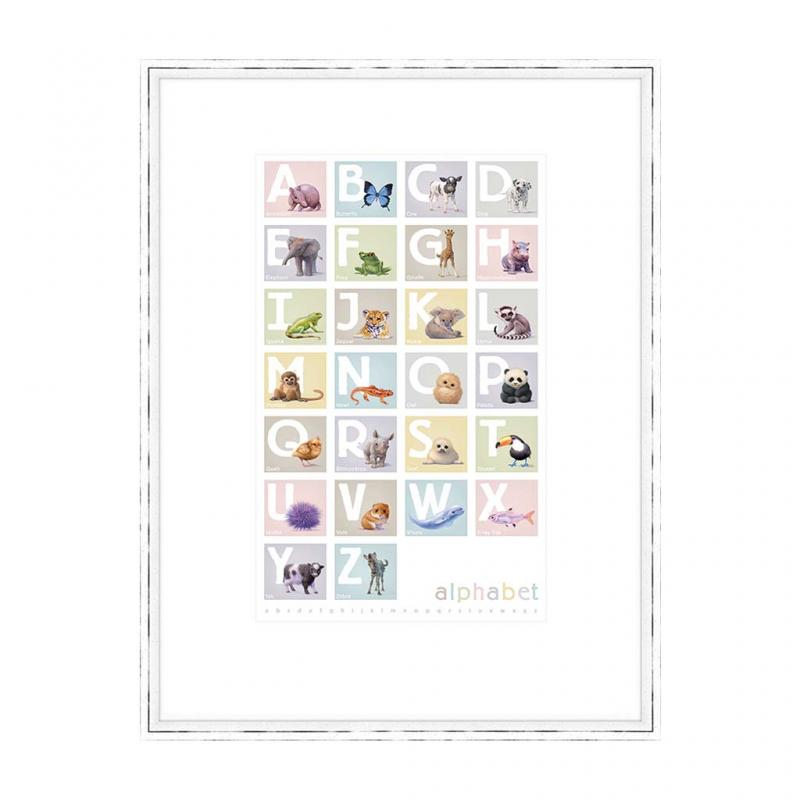 Alphabet Boxes Frame Art Print
