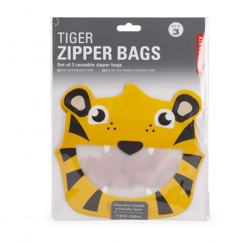 Tiger reusable zipper bags