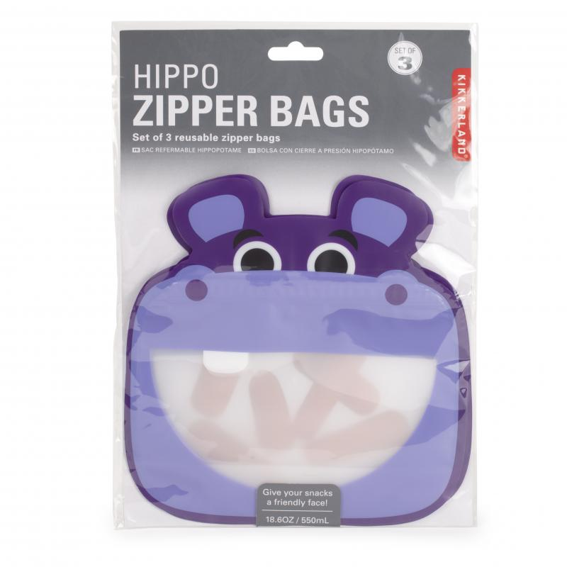 Hippo zip bag