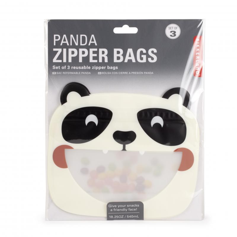 Panda Reusable Zipper Bags