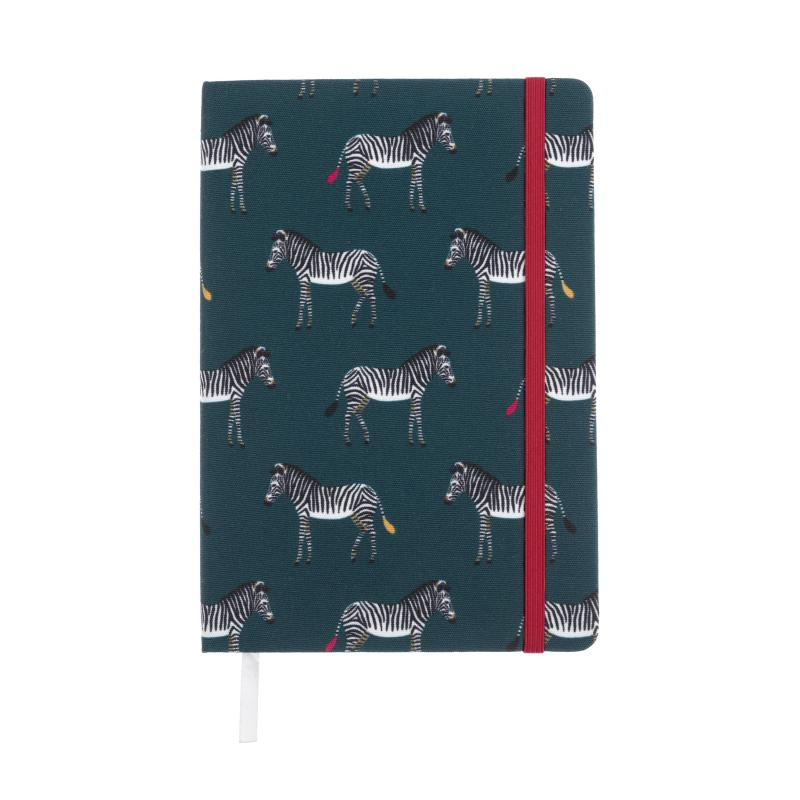 Sophie Allport zebra A5 fabric notebook