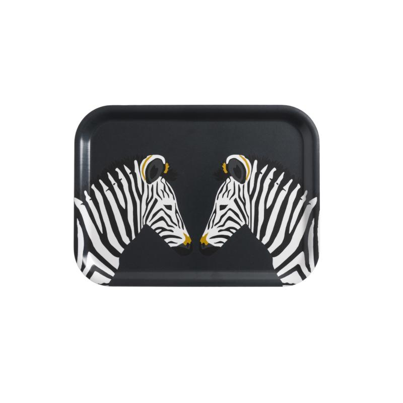 Zebra Printed Tray, Small
