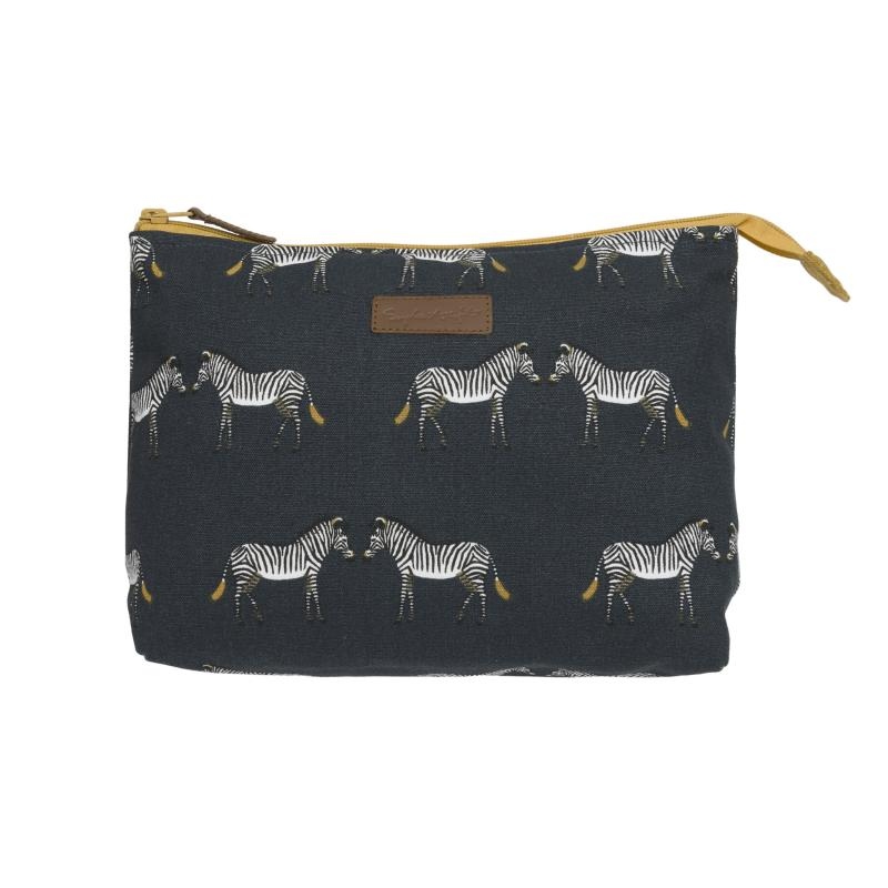 Zebra Canvas Wash Bag
