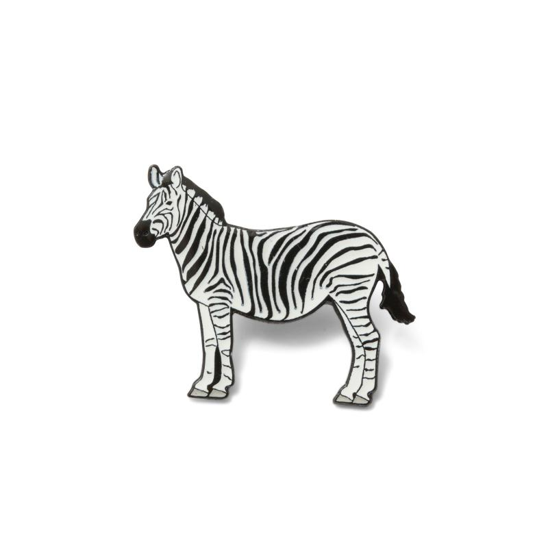Zebra Pin Badge
