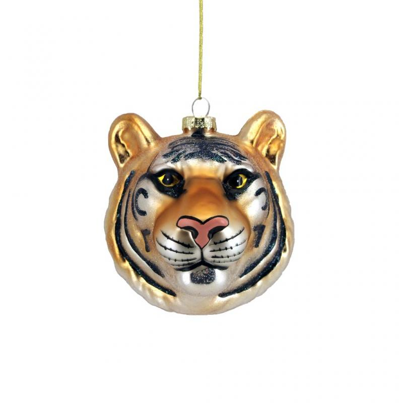 Gisela Graham Tiger Head Bauble