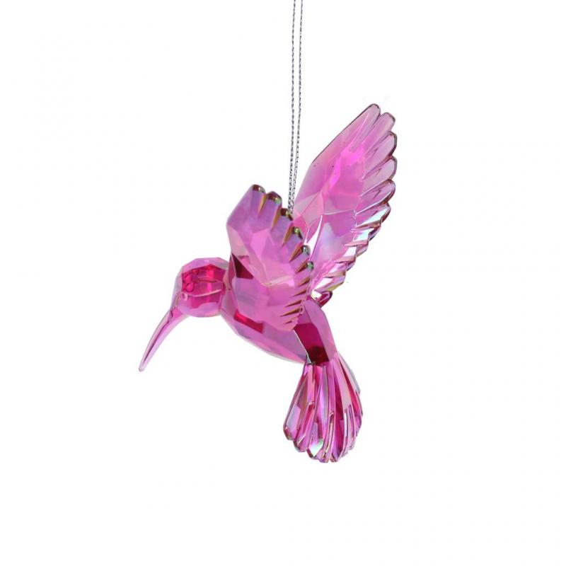 Gisela Graham Hummingbird Decoration, Pink