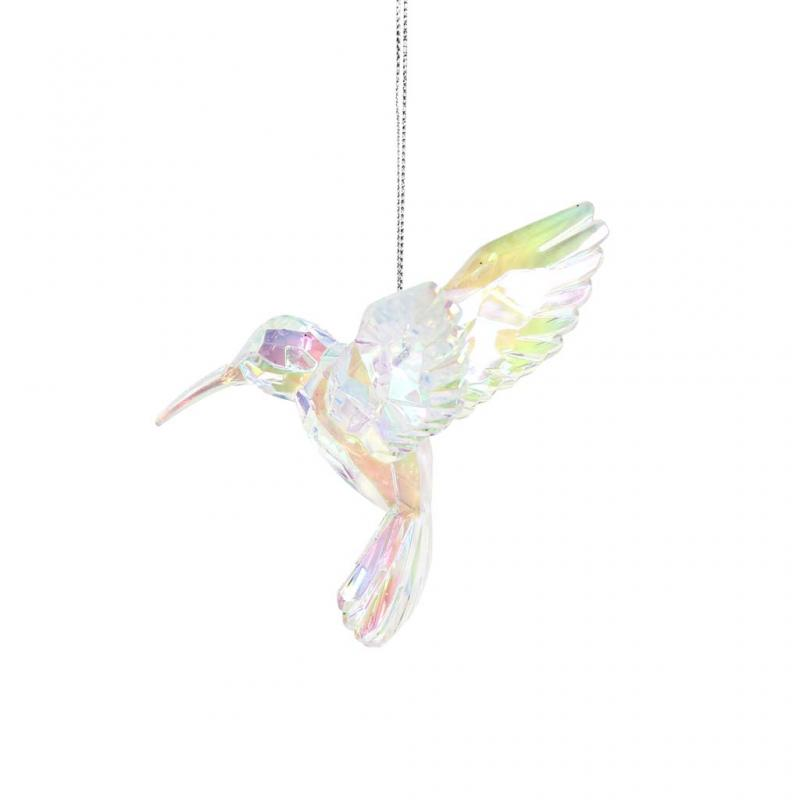 Gisela Graham Hummingbird Decoration, Clear
