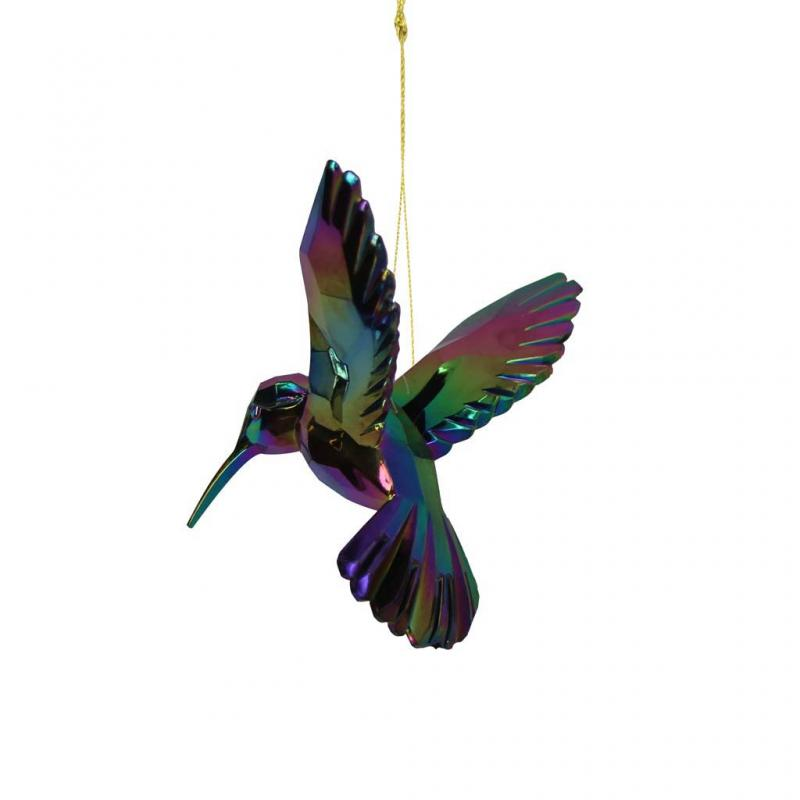 Gisela Graham Hummingbird Decoration, d.Petrol