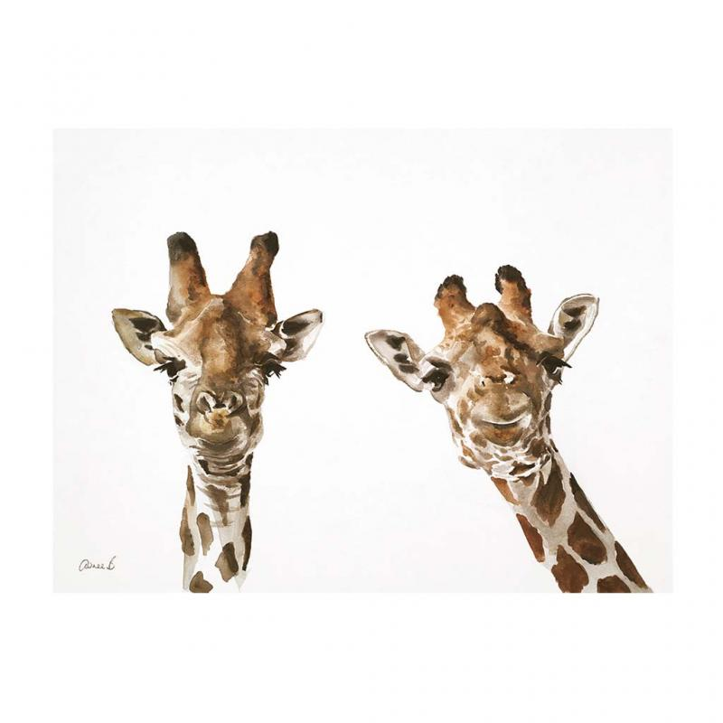 Giraffe Canvas Art Print, 40x30cm