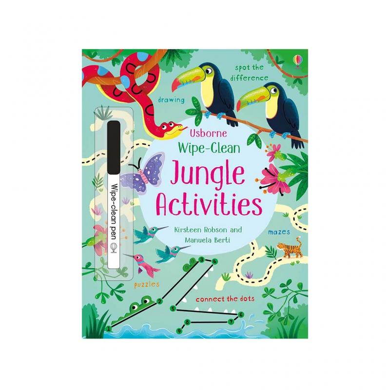 Wipe-Clean Jungle Activities Book