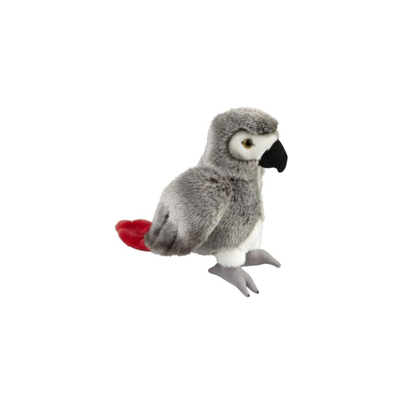 African Grey Parrot Soft Toy, 28cm
