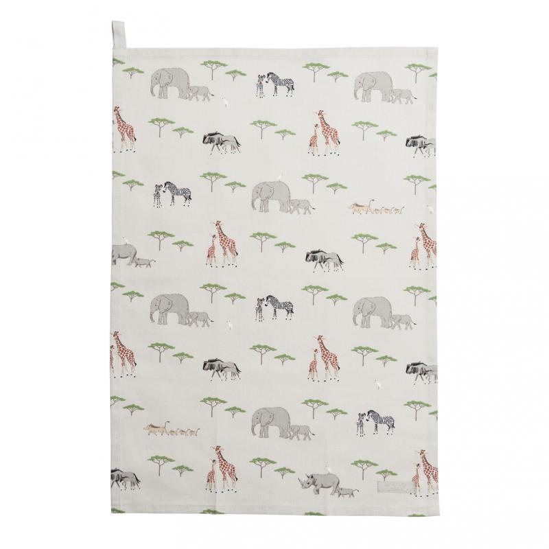 On Safari – Animal mother and baby tea towel