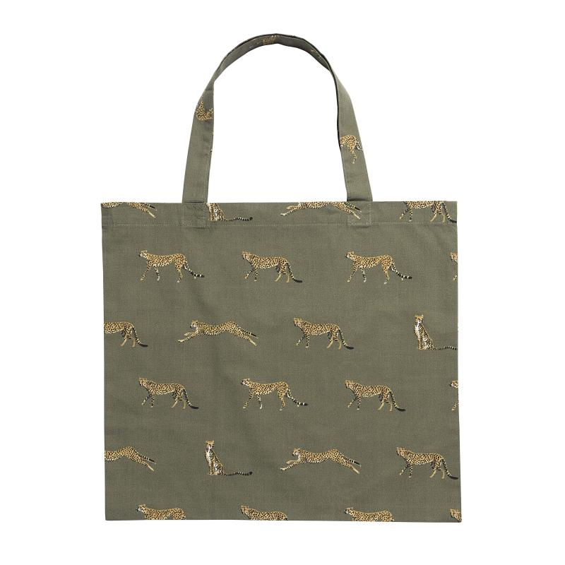 cheetah shopping bag