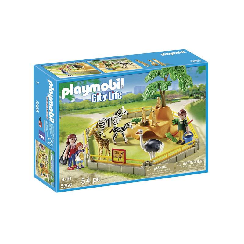 Playmobil animal enclosure set