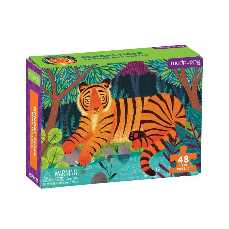 Bengal Tiger Mini Jigsaw Puzzle, 48 pieces