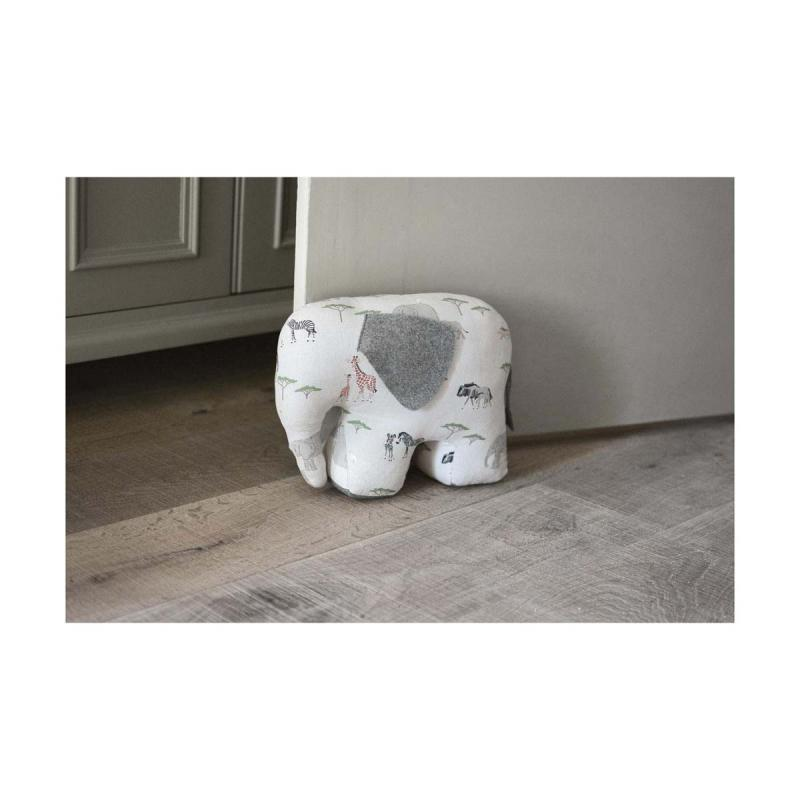 On Safari elephant doorstop