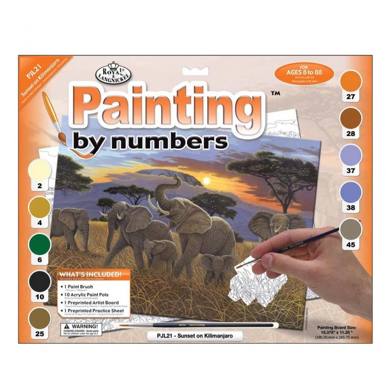 Sunset in Kilimanjaro Paint by Numbers Kit