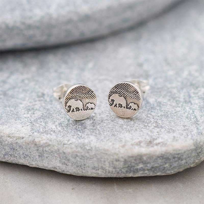 Mother And Baby Stud Earrings