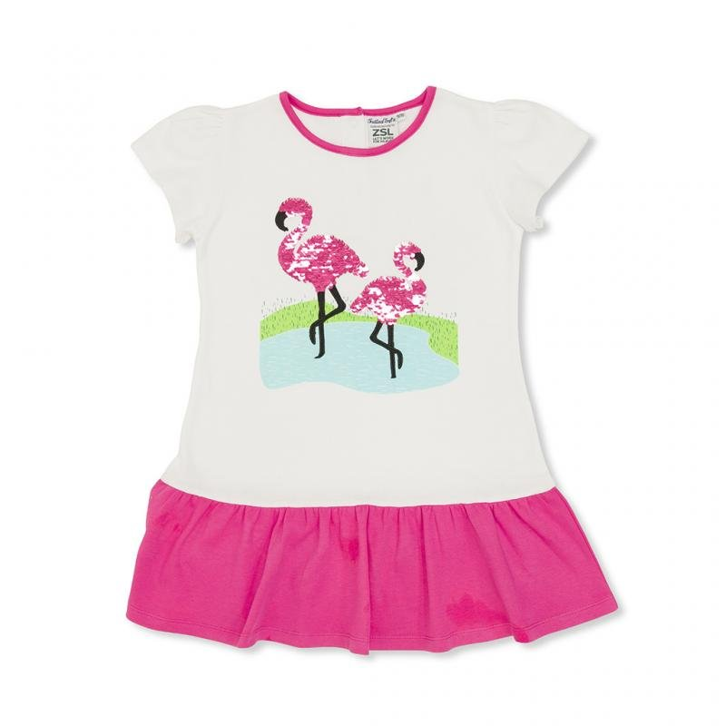 Children's flamingo sequin dress