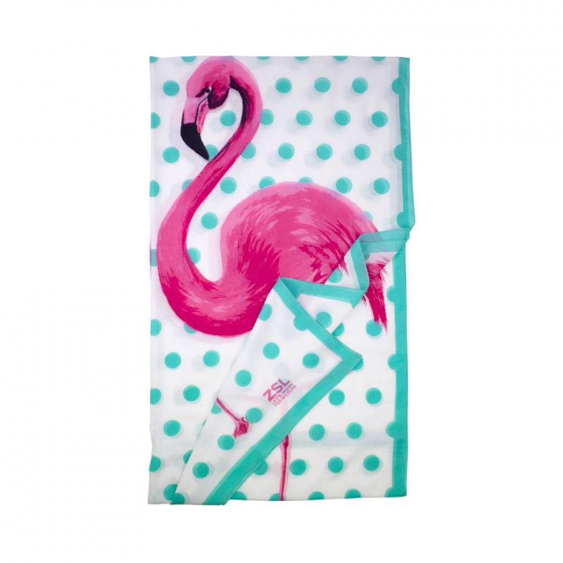 flamingo scarf folded