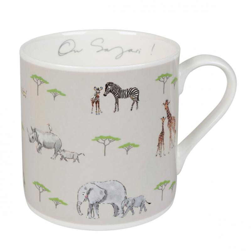 On Safari – Animal mother and baby mug
