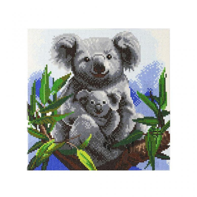 Koala Crystal Art Canvas Kit, 30cm x 30cm