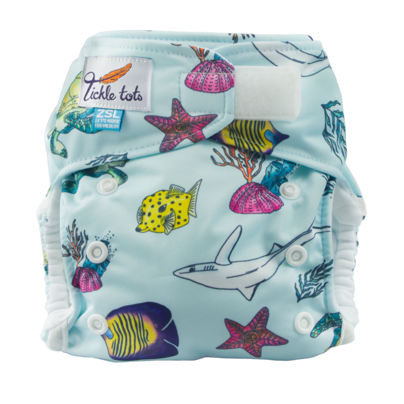 Tickle Tots 1 Ocean Reusable Nappy