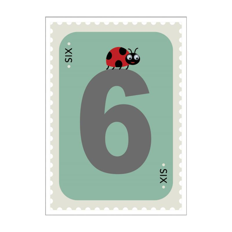 ladybird 6th birthday card